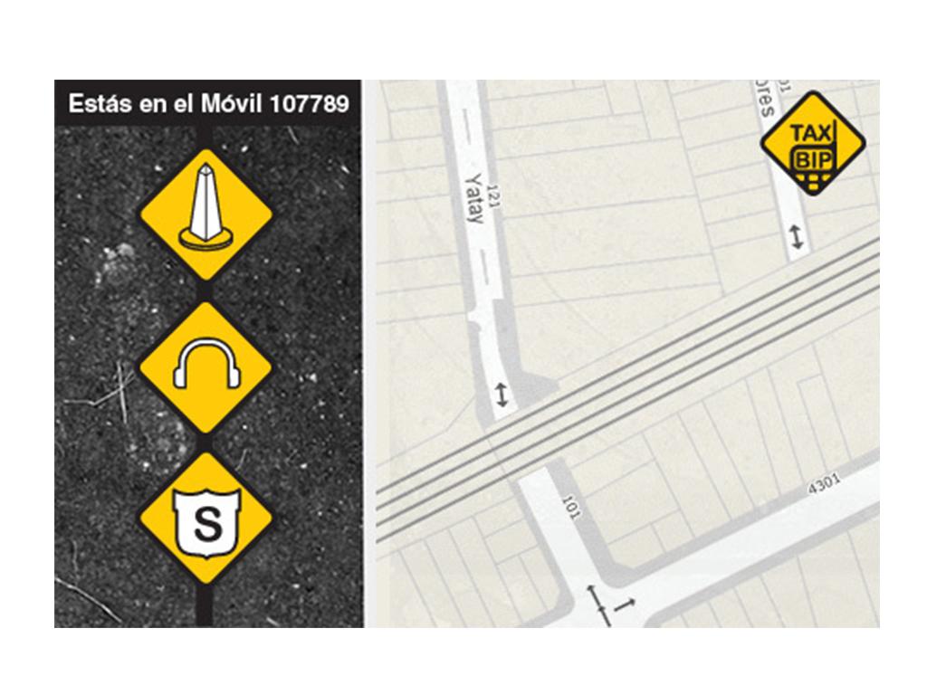 Boceto de pantallas aplicación móvil TaxiBip