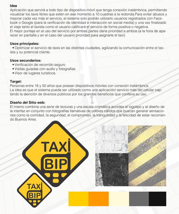 Proyecto TaxiBip - Definición de idea y partido conceptual