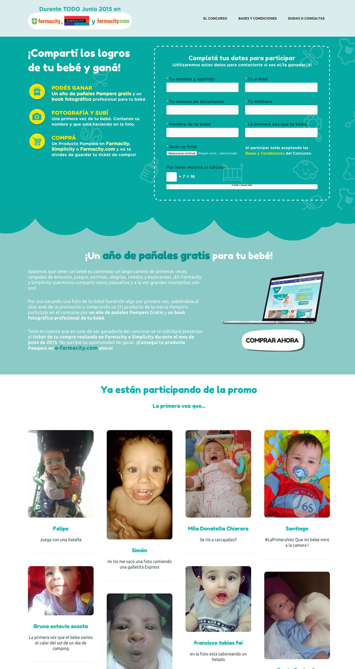 Landing page para promoción en wordpress - Página de inicio