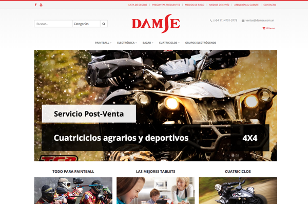 Damse On-line e-commerce